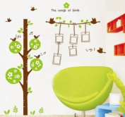 Modern House Green Tree Photo Frames Hanging Wall Decor Removable Decal Wall Sticker