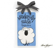 Blue Baby Boy Wonderfully Made Ceramic Wall Hanging