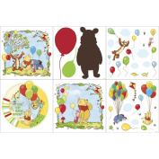 Blue Mountain Wallcoverings 31420610 Pooh Scenic Self-Stick Decorating Kit