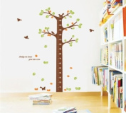 LiViTech(TM) Green Tree Height Measurement Growth Chart Special Love Wall Stickers