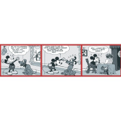 Imperial Disney Home DF059212B Mickey Comic Strip Border, Black and White, 17.3cm Wide