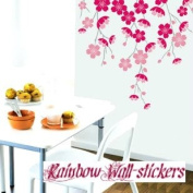 Wall Decor Removable Decal Sticker - Cherry Blossoms Branch in Wind