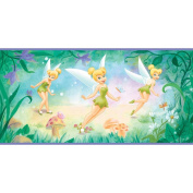 Imperial Disney Home DF059271B Tinkerbell Flower Border, Purple 26cm Wide