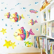 Rainbow Wall-stickers Wall Decor Removable Decal Sticker - Bubble Fishes