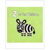 Matthew Porter Art Wall Decor Art Print, Alphabets, Z is for Zebra