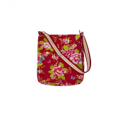 Floral Butterfly Canvas Messenger Bag