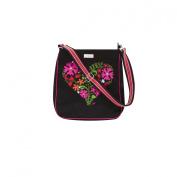Boho Heart Canvas Messenger Bag