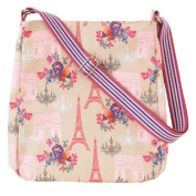 Paris Canvas Messenger Bag