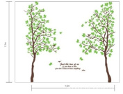 LiViTech(TM) Just Two of Us Green Tree Special Love Wall Stickers