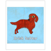 Matthew Porter Art Wall Decor Art Print, Irish Setter
