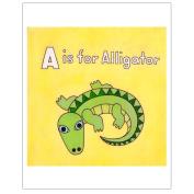 Matthew Porter Art Wall Decor Art Print, A is for Alligator