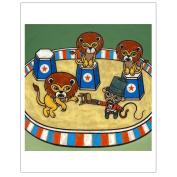 Matthew Porter Art Wall Decor Art Print, Lion Tamer Monkey