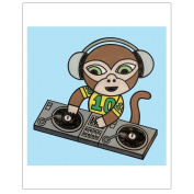 Matthew Porter Art Wall Decor Art Print, DJ Monkey