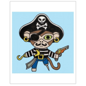 Matthew Porter Art Wall Decor Art Print, Pirate Monkey