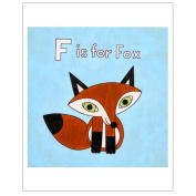 Matthew Porter Art Wall Decor Art Print, F is for Fox