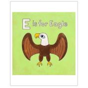 Matthew Porter Art Wall Decor Art Print, E is for Eagle