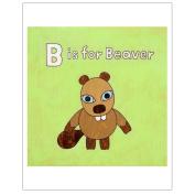 Matthew Porter Art Wall Decor Art Print, B is for Beaver