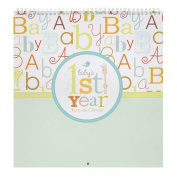 C.R. Gibson Kids First Year Keepsake Calendar, Baby Love