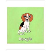 Matthew Porter Art Wall Decor Art Print, Beagle