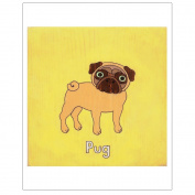 Matthew Porter Art Wall Decor Art Print, Pug