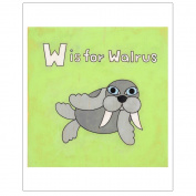 Matthew Porter Art Wall Decor Art Print, Alphabets, W is for Walrus