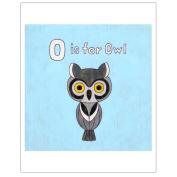 Matthew Porter Art Wall Decor Art Print, Alphabets, O is for Owl