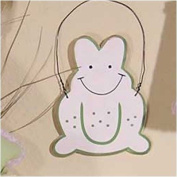 One Little Froggie White Frog Wall Hanging