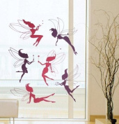 Modern House Colourful Flying Mini Fairy removable Vinyl Mural Art Wall Sticker Decal