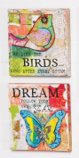 Pattern on Pattern 3D Bird and Butterfly Canvas
