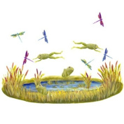 Pond with Frogs and Dragonflies