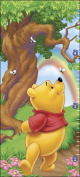 Blue Mountain Wallcoverings 31720502 Pooh Self-Stick Growth Wall Chart