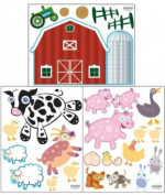 Farm Animal Wall Decals -Peel & Stick Baby Room Decor Stickers