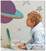 FunToSee Outer Space Children's Wall Decals, Planet And Star Scene