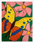 Flower Butterfly Nursery Wall Art Prints Baby Room Decor Art for Girls Room