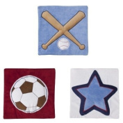 Tiddliwinks Future All Star 3pc Wall Hanging
