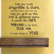 May you touch dragonflies and stars...vinyl Wall Decals Quotes Sayings Words Art Decor Lettering vinyl wall art inspirational uplifting