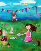Cici Art Factory Wall Art, Tea Party Brunette, Small