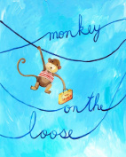 Cici Art Factory Wall Art, Monkey on the Loose, Small