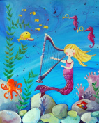 Cici Art Factory Wall Art, Mermaid Blonde, Small