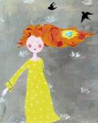 Cici Art Factory Wall Art, Bird's Nest Paper Print, Small