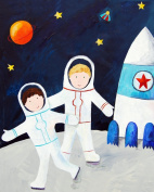 Cici Art Factory Wall Art, Brothers on the Moon, Small