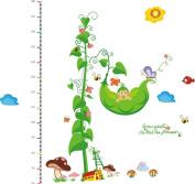 LiViTech(TM) Princess Garden Height Measurement Growth Chart Special Love Wall Stickers