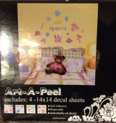 Art-A-Peel Princess Wall Decals Tween Dreams