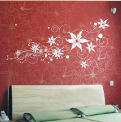 Wall Decor Removable Decal Sticker - Star Flowers