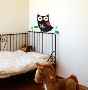 Chalkboard Owl Wall Decor Stickers