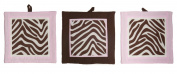 Pam Grace Creations Set of 3 Wall Hangings, Zara Zebra