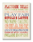The Kids Room Wall Decor, Playroom Rules Typography