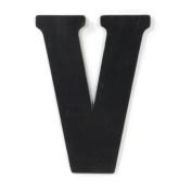 Munch Oversized Black Wood Letters, V