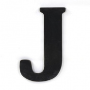Munch Oversized Black Wood Letters, J