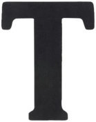 Munch Oversized Black Wood Letters, T